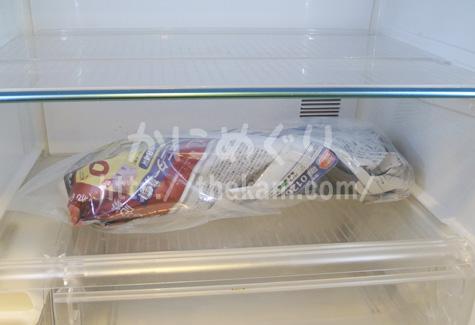 冷蔵庫の中にあるタラバガニ足