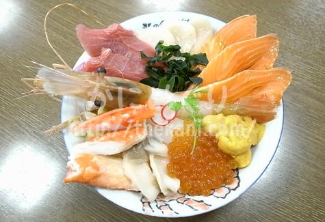 札幌市中央卸売場外市場の海鮮丼