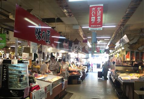函館朝市の店内