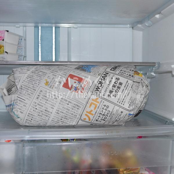カニを冷蔵庫で解凍