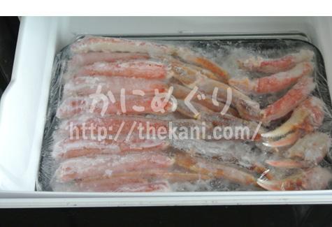 北国のカニ冷凍庫