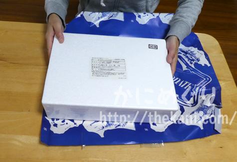 包装紙を開けたら発泡スチロール