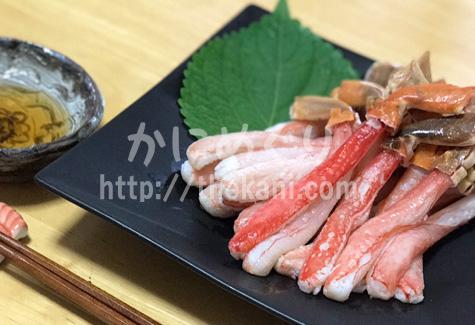 カニ刺身とカニ酢