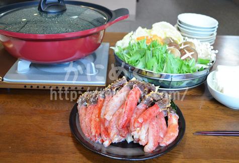 タラバガニでカニ鍋