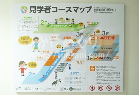 札幌市中央卸売市場カニ競りの見学コース看板