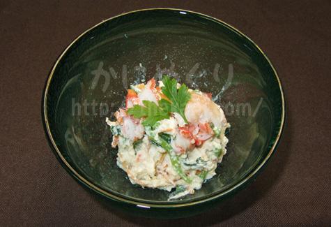 カニと小松菜の白和えカニミソ風味