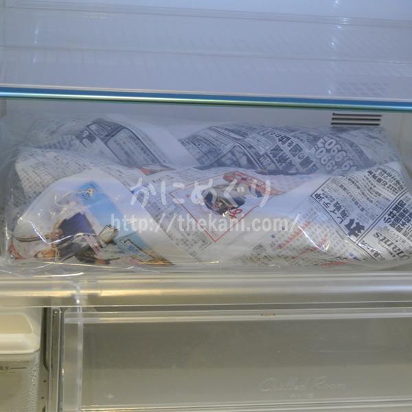 【カニの美味しい解凍方法】解凍ムラが少ない冷蔵庫でじっくり時間をかける