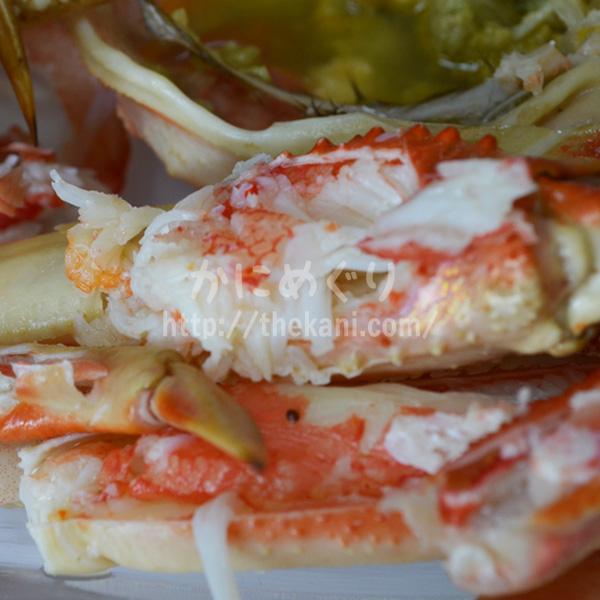 「海の幸なのにYAMATO」で蟹を購入、甘くてジューシーな蟹に大盛り上り