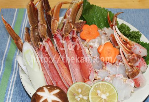 北国のカニ鍋準備